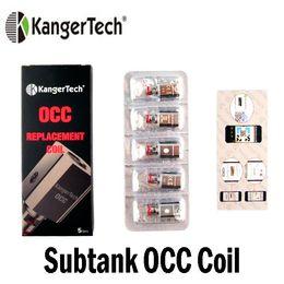 Subtank atomizer original online shopping - Original Kanger Subtank Vertical OCC Coil Head ohm ohm ohm ohm ohm Ni200 Fit Kangertech Subtank Atomizer