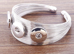 Discount vision alloy - fashion vision Silver Plated alloy Metal bangles Fit Snap Buttons 18mm Free Shipping giger snap bangle jewelry