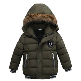 7d08a31469ce Boy Coat Outwear Baby Kids Clothing Boutique children s clothes boys winter  clothing Thick padded hooded jacket 1682