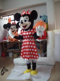 Nouveaux Costumes De Minnie Mouse Pas Cher-vente mushroomstreet New Hot Hot vente! NOUVEAU Red Minnie Mouse Mascot Costume de déguisement Halloween Taille