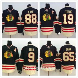 Bobby Hull Blackhawks Jersey Canada - 2015 Winter Classic Chicago Blackhawks 88 Patrick Kane 65 Andrew Shaw 19 Janathan Toews 9 Bobby Hull Black Men's Hockey Jerseys