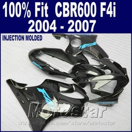 $enCountryForm.capitalKeyWord Canada - Injection molding black for HONDA CBR 600 F4i fairings 2004 2005 2006 2007 body parts 04 05 06 07 cbr600 f4i +7Gifts RDDE