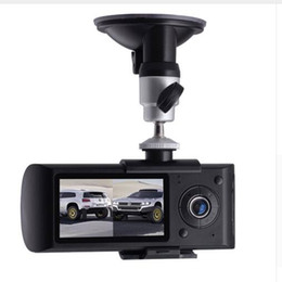 "16g memory cards Australia - Dual Lens Car DVR Camera R300 Dashcam Video Digital Recorder with GPS 2.7"" TFT LCD X3000 Camcorder Cycle Recording DVR"