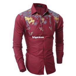 $enCountryForm.capitalKeyWord UK - Wholesale- 2016 New Men's Shirts Men Luxurious Tuxedo Shirt Mens Brand Red Fine Printing Shirt Men's Long Sleeve Designer Dress Shirts