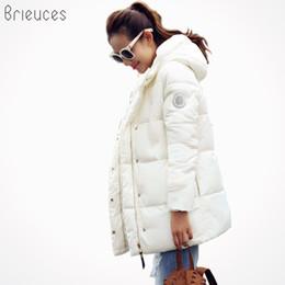 China Wholesale- Brieuces 2017 wadded jacket female new winter jacket women down cotton jacket slim parkas ladies winter coat plus size S-XXXL cheap ladies plus size long down coat suppliers