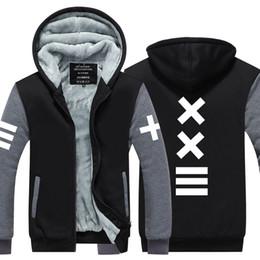 Hba Hoodie online shopping - New Arrival Winter HBA xxlll funny Hoodies men harajuku hip hop homme anime Thicken Fleece Zipper Tops USA EU size Plus size