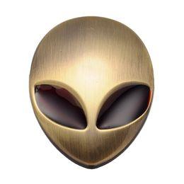 $enCountryForm.capitalKeyWord Canada - Red Eyes Brass Car 3D ET Logo Metal Aliens Auto Truck Motorcycle Emblem Badge Sticker Decal