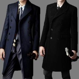 Wholesale mens wool coat for sale - Group buy Fall New Brand bakham Long trench coat wool coat Winter peacoat Men s Dust Coat mens clothing overcoat men s coats A4423