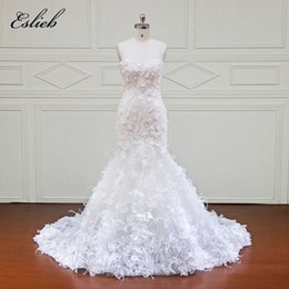 Barato Comprar Vestidos De China-Eslieb New Design Mermaid Lace Wedding Dresses 2018 Sweetheart 3D Flower Sexy Vestidos de casamento vintage China Online Shop
