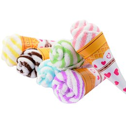 Ice cream bIrthday gIfts online shopping - 30pcs Ice Cream Cones Cake Towel Festive Wedding Birthday Party Gift Home Decorative Accessories Supplies Gear Stuff Product