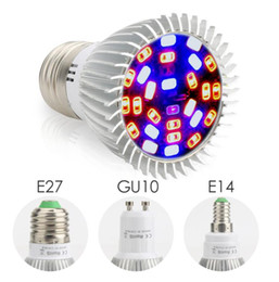 led grow ir uv Canada - Full Spectrum18W  28W E27 E14 GU10 Led Grow Light Red Blue UV IR Led Growing Lamp for Hydroponics Flowers Plants Vegetables