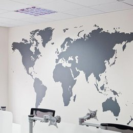 World map wallpaper online world map wallpaper mural for sale 2016 wholesales black large world map wall sticker removable double sided visual pattern home decoration house wallpaper free shipping gumiabroncs Gallery