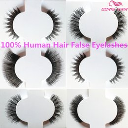 Wholesale False Eyelashes human hair Natural OR Thick Fashion Lash Blink Black Full Strip Fake Lashes Makeup Tool