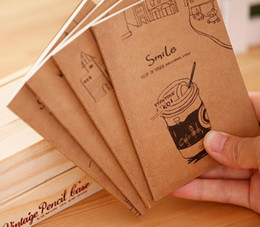 small paper notebooks 2019 - Wholesale- Free ship! 1 lot=40pc! Retro exercise books   students cute soft copy of the small notebook   cartoon mini no