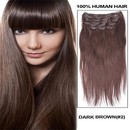 Thickest hair online thickest human hair extensions for sale 20 22 24 26 full head thickest 160g remy clip in human hair extensions 2 dark brown pmusecretfo Gallery