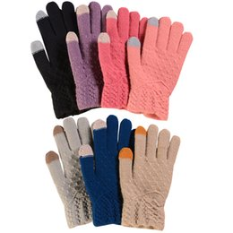 $enCountryForm.capitalKeyWord UK - 7 colors Fashion Winter Touch Screen Smart Gloves For Women or Men Warm Knitted Gloves Smart For phones Mittens Smart Outdoor Gloves