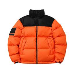 Vente en gros New Arrives Marque Nouvelle Coupe-Vent Épais Survêtement Mode Trend Down Vestes Down Vestes Nuptse Feuilles Orange HFXYYRF004