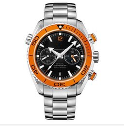 Chinese  Luxury Swiss Top Brand Mens Quartz Chronograph Watches Stainless Steel Orange Sea Planet Ocean Co-Axial Designer Mens Dress Watch Stopwatch manufacturers