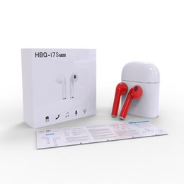 apple iphone earbuds Canada - Twins Earphone HBQ I7S TWS Headphone Earbuds Earpieces Stereo for Android Samsung Apple iPhone 8 Plus i7 4.2 Bluetooth Wireless Headset MIC
