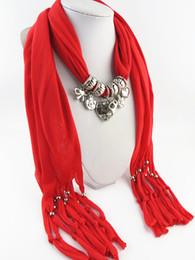 Шарфы подарка сердца подарка Valentines шарнирные tassels шарфы ювелирных изделий ожерелья женщин разнообразие имеющихся цветов свободная перевозка груза