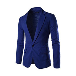 man color dress UK - New men's casual Slim version of the formal dress lapel a button two pockets men's suit jacket jacket