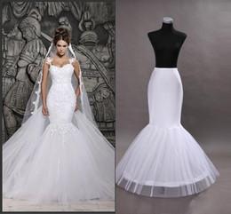 China Cheap In Stock One Hoop Flounced Mermaid Petticoats Bridal Crinoline For Mermaid Wedding Prom Dresses Wedding Accessories CPA201 supplier petticoats mermaid wedding dress suppliers