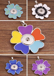 $enCountryForm.capitalKeyWord Canada - Mix Colors Jewelry charms Pendant Flower necklace Snap Noosa DIY Pendant Jewelry Valentine,s day gift with Interchangeable Jewerly