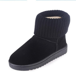 d225f86bca8 Half Korean Boot Heel UK - Winter snow boots flat non-slip thickened plus  cashmere