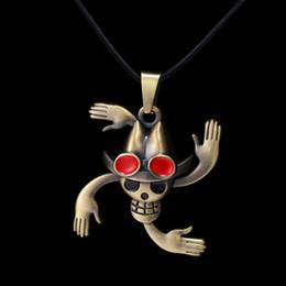 Pendants Anime One Piece Australia - Anime One Piece Nico Robin Pirates Skull Bronze Pendant Necklace High Quality Personality Jewelry
