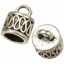 $enCountryForm.capitalKeyWord Canada - cords end caps diy bracelet metal bead caps for jewelry making antique silver 7mm round hole new fashion jewelry findings 11*14mm 100pcs
