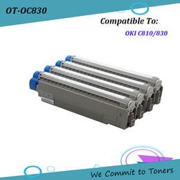 toner for oki 2019 - OKI C830 , Compatible Toner Cartridge for OKI C810 830 , OKI 44059105 - 44059108 , BK C M Y - 8,000 pages