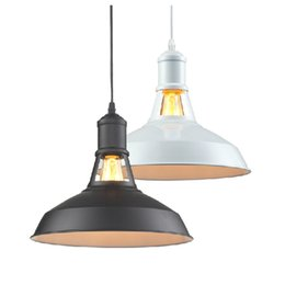Industrial Light Fittings UK - Vintage industrial Pendant lamps Competitive E27 E26 Loft American Country Pendant Lamps Fit for Mall Iron Retro ty-025