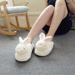 $enCountryForm.capitalKeyWord Canada - Winter Cartoon Cotton Slippers Womens Indoor Warm Silky Plush Home Shoes Woman Adorable Bunny Rabbit Slipper Ladies pantoffels 2018