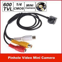 """Discount sensors camera - Freeshipping 600TVL 1   4"""" CMOS HD Sensor 500 Mega Pixel Smallest Cone Pinhole Video Mini Camera"""