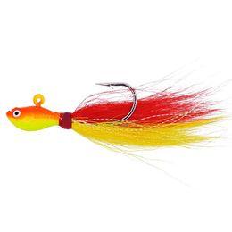 $enCountryForm.capitalKeyWord UK - 1 4oz luminous Bucktail jigs fishing Lures 3D eyes Big Game Saltwater Freshwater Baits Bucktail jigging Bucktail Hair lead Jigs