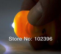 Discount mushroom pendant light - Wholesale-Free Shpping 20pcs lot Mushrooms Shape led light  keychain creative practical key chain pendant LED Promotiona