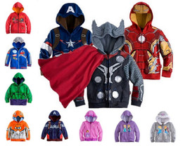 Discount avengers clothes kids - Hot Sale Girls Boys Children Spider Man Clothes 2Y-8Y Baby Kids Boy's Sweatshirt Hoodies The Avengers Jacket Coat O