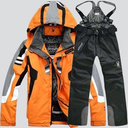 AnimAl print jAcket for men online shopping - Spider brand hiking skiing jackets for men new fashion camping skiing suits jacket and pants men luxury sport suits