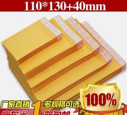 papier kraft enveloppes Air Mail Air Sacs d'emballage PE bulle cadeau rembourré Rembourrage Enveloppes Wrap récent 110mm * 130mm * 4.3 5.1inch drop shipping en Solde