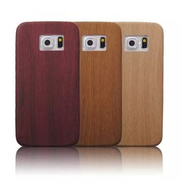 handmade wood phone cases Canada - Wood Mobile Cell Phone Case Unique Handmade Wood Grain Protection Skid Soft case for iphone Samsung