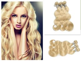 soft tangle free weave Australia - Bleach Blonde Color #613 Brazilian Body Wave Virgin Hair Brazilian Human Hair Weave Bundles SOFT THICK Tangle Free Hair Extensions Dyeable