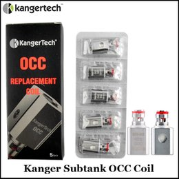 Kanger Vertical Subtanque OCC Bobina Atualizado Sub Ohm Bobina 0.2 0.5 1.2 1.5ohm Fit Subtanque Mini Nano Atomizers venda por atacado