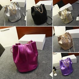 Wholesale-Vintage Women Faux Leather Handbag Lady Crossbody Shoulder Bag  Bucket Purse d765062acc69b