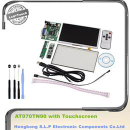 "lcd screen driver Canada - Wholesale-INNOLUX 7"" inch Raspberry Pi LCD + Touch Screen Display TFT Monitor AT070TN90 with Touchscreen Kit HDMI VGA Input Driver Board"