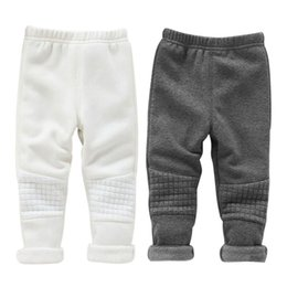 Cintura Elástica Pantalones Chica 5t Baratos-Invierno Baby Girls Leggings Kids Infant Warm Pants Basic Cintura elástica Thick Skinny Trousers for Girl Clothing