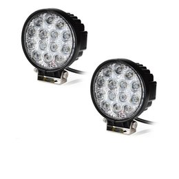 $enCountryForm.capitalKeyWord Canada - 2pcs 4.5 inch 42W LED Work Light 12V 24V Flood Spot Beam LED Auto Lamp For Off road 4x4 Accessories LED Driving Light