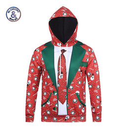 New Style 3d Paintings NZ - Wholesale- Mr.1991INC New Fashion Hooded christmas Hoodies 3D Men Women Autumn Winter Tops Thin Style Paint 3d Sweatshirts Unisex Pullovers