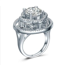 mexican wedding rings 2019 - 2017 New Arrival Wholesale choucong Women Luxury Jewelry 925 Sterling Silver White Topaz CZ Diamond Party Classic Band R