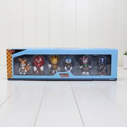 $enCountryForm.capitalKeyWord Canada - 6cm aprrox 6 style Sonic The Hedgehog Super Sonic Characters PVC Mini Figure Toys Dolls with Retail Box 6pcs set