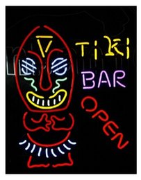 "$enCountryForm.capitalKeyWord Canada - TIKI BAR OPEN Neon Sign Light Cinema Bar Sign Handcrafted Real Glass Tube Light KTV Disco Club Store Advertising Sign Display 20""X24"""